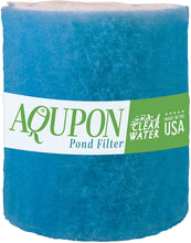 Load image into Gallery viewer, AQUPON Koi Pond Filter Media Pad - Cut to Fit Roll (Dye-Free/Blue Bonded) - 1.25 Inch Thickness (10 ft, Blue)