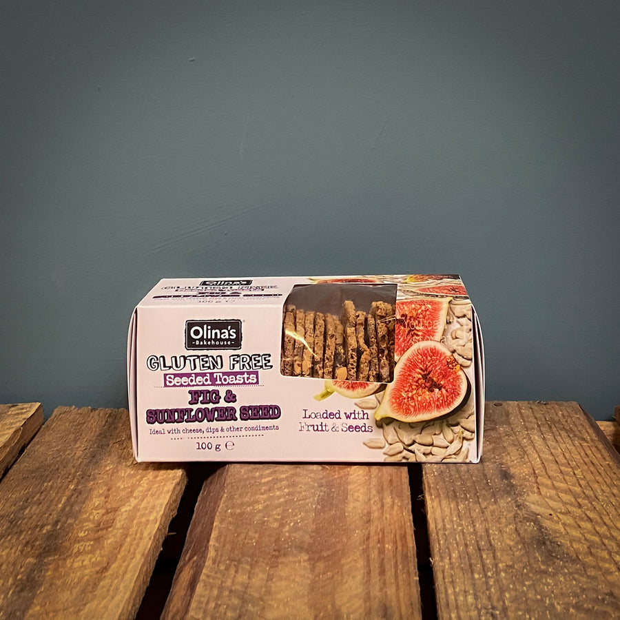 Olina's Fig and Sunflower Seed Crackers 100g