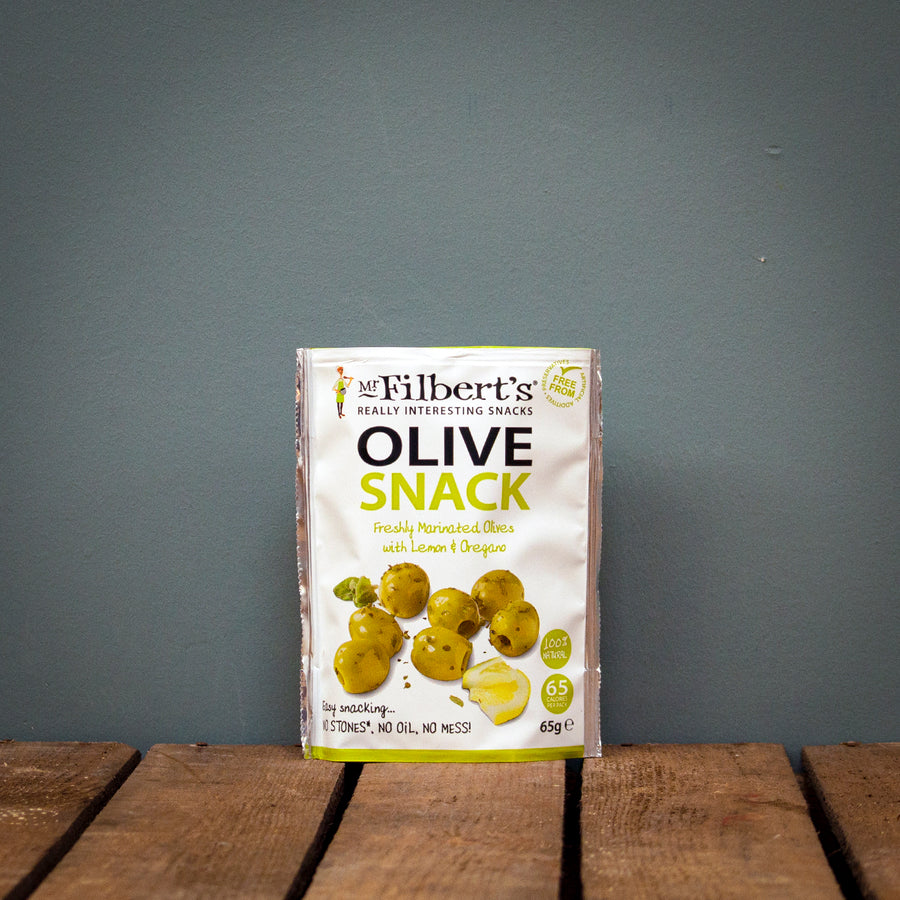 Mr Filbert's Green Olives with Lemon & Oregano 65g