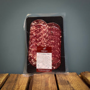 Great Glen Black Pepper, Pork and Venison Salami 90g