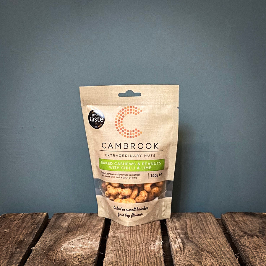 Cambrook Baked Cashews & Peanuts with Chilli & Lime 140g