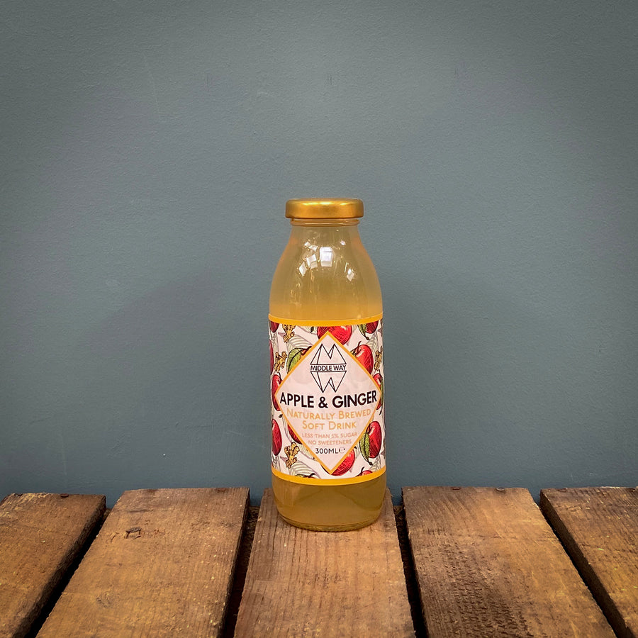 Middle Way Water Kefir Apple & Ginger 300ml