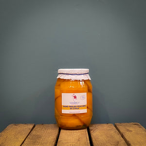 Navarrico hand-peeled peach halves in syrup 950g