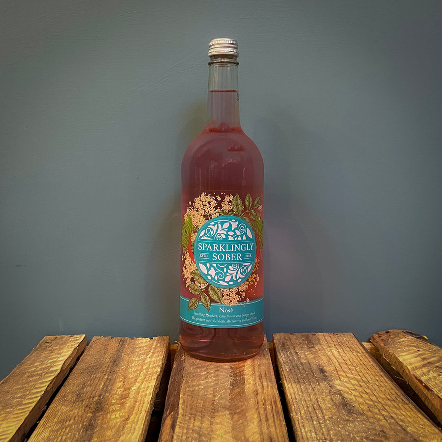 Sparklingly Sober Rhubarb Elderflower and Ginger 750ml