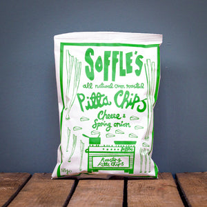 Soffle's Cheese & Spring Onion Pitta Chips 165g