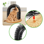 How to assemble the cat self grooming tool arc-shaped