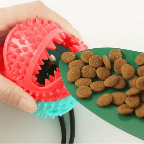 How to add dog treats inside the Tub Ball