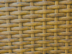 almond thick weave wicker