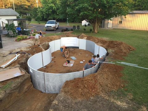 Gallery leisure depot for Above ground pool decks indianapolis
