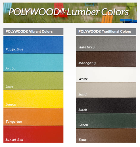 Polywood color chart