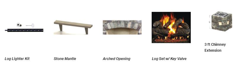 Custom outdoor fireplace options