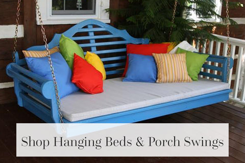 shop hanging beds and porch swings
