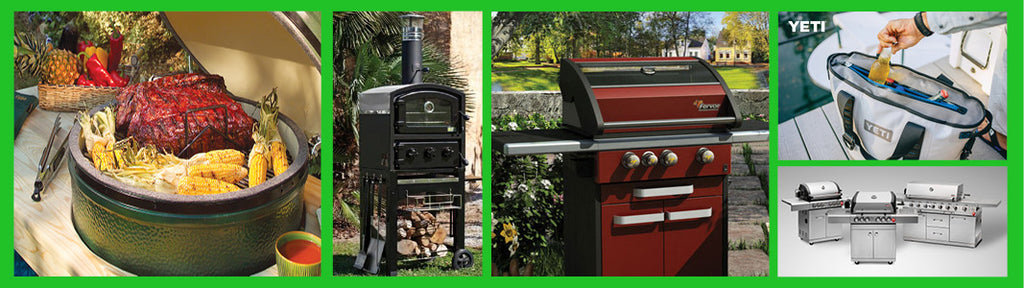 Outdoor cooking, grills, smokers, coolers, cooking accessories