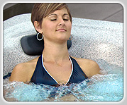 hydrotherapy woman in swim spa