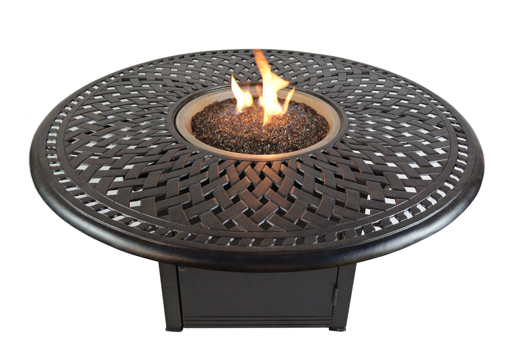 Boca Gas Fire Pit and Chat Table