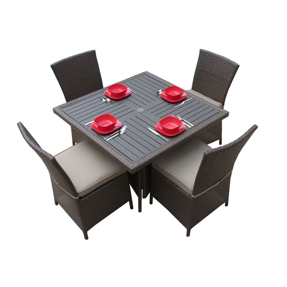 "Salinas 42"" 5 Piece Dining Set"