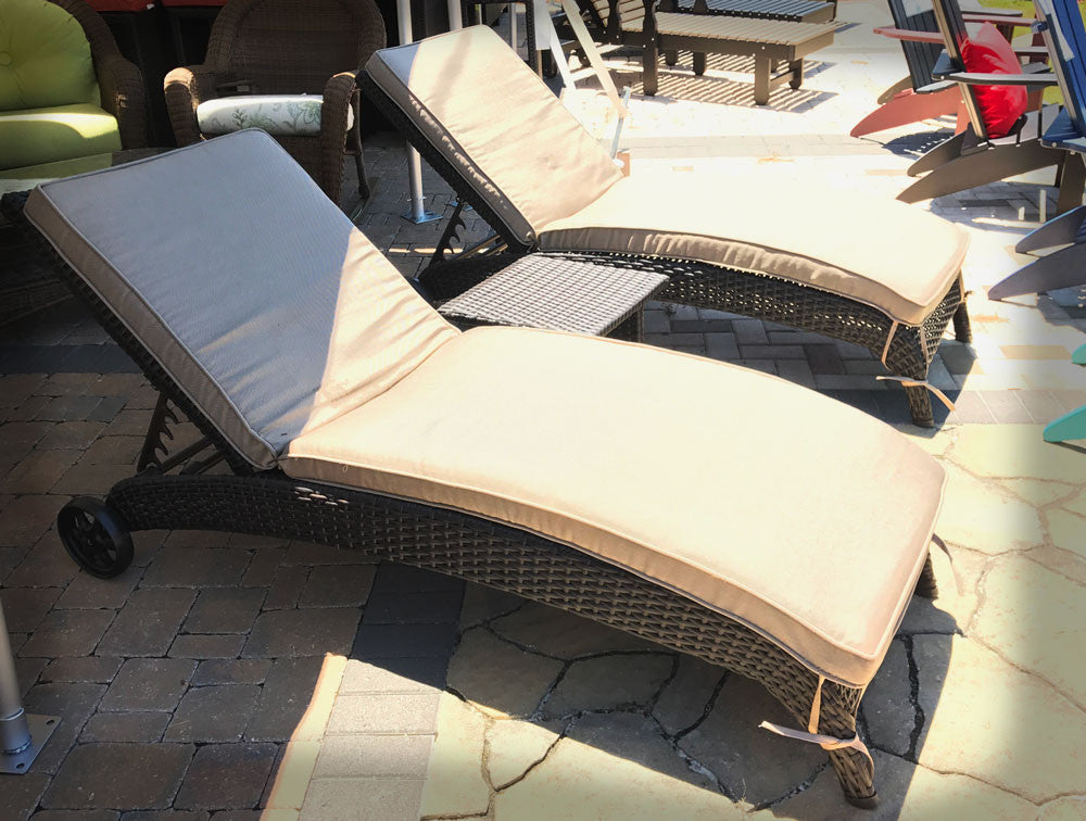 Antigua 3 Peice Chaise Lounge Set with Cushions