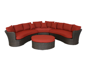 Antigua Curved Wicker Sectional Set