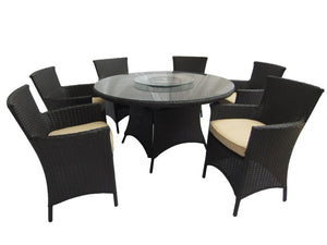 "53"" Round Wicker 5 Piece Dining Set"