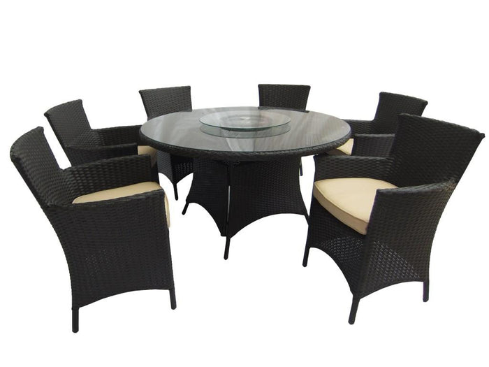"53"" Round 5 Piece Wicker Dining Set"