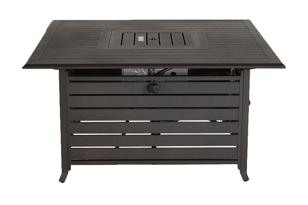 Square Slat Top Fire Table