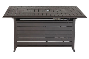 Mahogany Rectangular Slat Top Fire Table