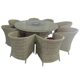 Desert Sand 9 Piece Wicker Dining Set
