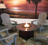 "42"" round granite gas fire table"