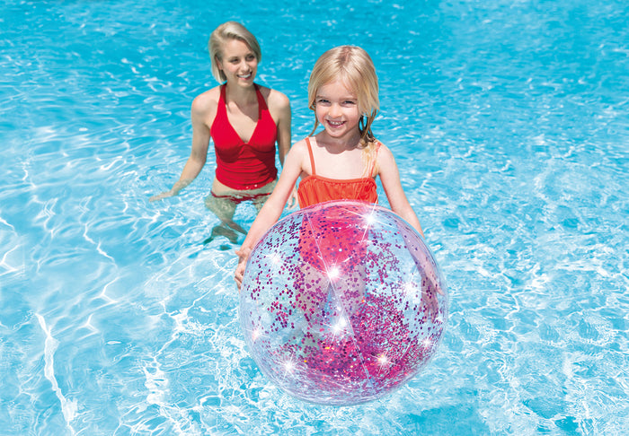 Transparent Glitter Beach Ball