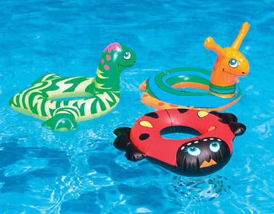 "Assorted 24"" Animal Float Rings for Baby"