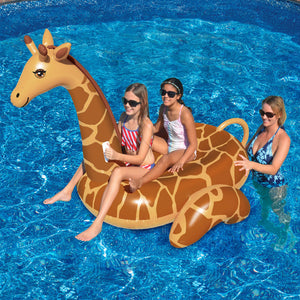 Giant Giraffe inflatable ride on pool float