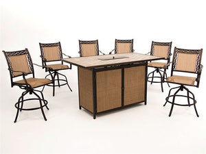 Athens Bar Height Fire Table Set - Last One!