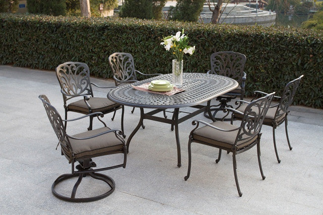 Boca 7 Pc. Oval Dining Set