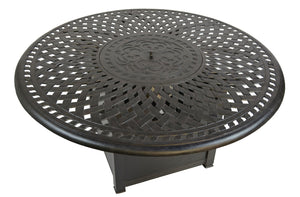 Boca Fire Pit / Chat Table with lid on