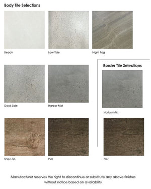 Select Series Homestretch - Outdoor Kitchen Island tile selections
