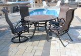 Wineberry mosaic tile table & chairs