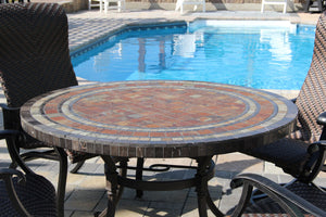 Wineberry mosaic tile table