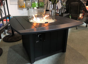 "Poly Lumber 44"" Gas Fire Chat Table"