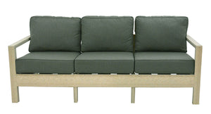 Amish made recycled poly lumber 3 seater sofa
