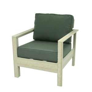 Amish made recycled poly lumber club chair