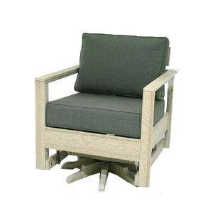 Amish made recycled poly lumber swivel rocker