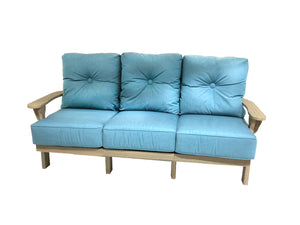 Reynolds cushioned poly lumber 3 seat sofa