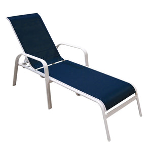 Capri Chaise Lounge - white / navy