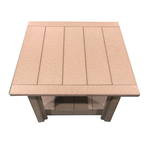 Carter poly lumber Amish outdoor square coffee table