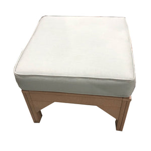 Carter poly lumber Amish outdoor cushioned ottoman
