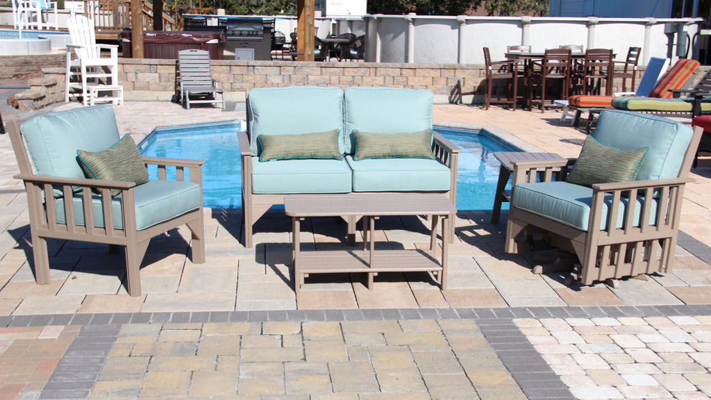 Carter poly lumber Amish outdoor deep seating collection