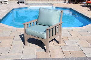 Carter poly lumber Amish outdoor deep seating club chair