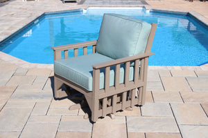 Carter poly lumber Amish outdoor deep seating swivel rocker
