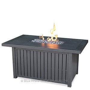 Rectangular Slat Top Fire Table