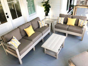 Hendricks coastal woodlook poly lumber sofa set